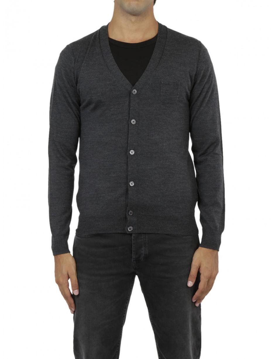 Paolo Pecora Cardigan Gray Buttons for Men