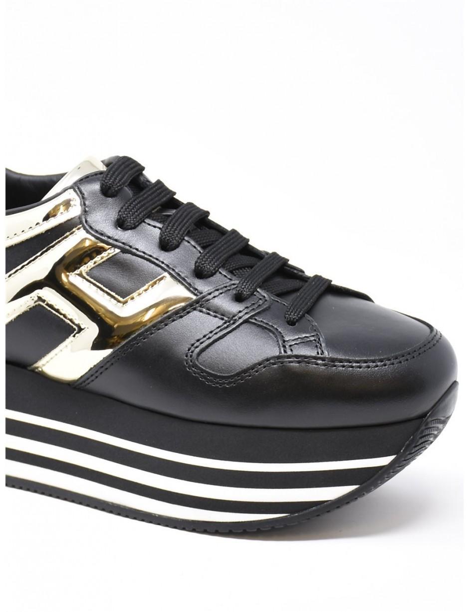 Hogan Maxi H222 Black Gold - Lyst