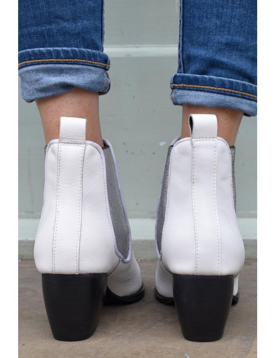 Sol Sana Leather Dials White \u0026 Silver