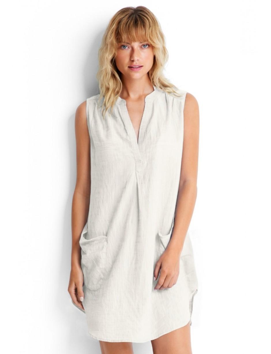 206c09695e Seafolly Sleeveless Beach Shirt White in White - Save 49% - Lyst