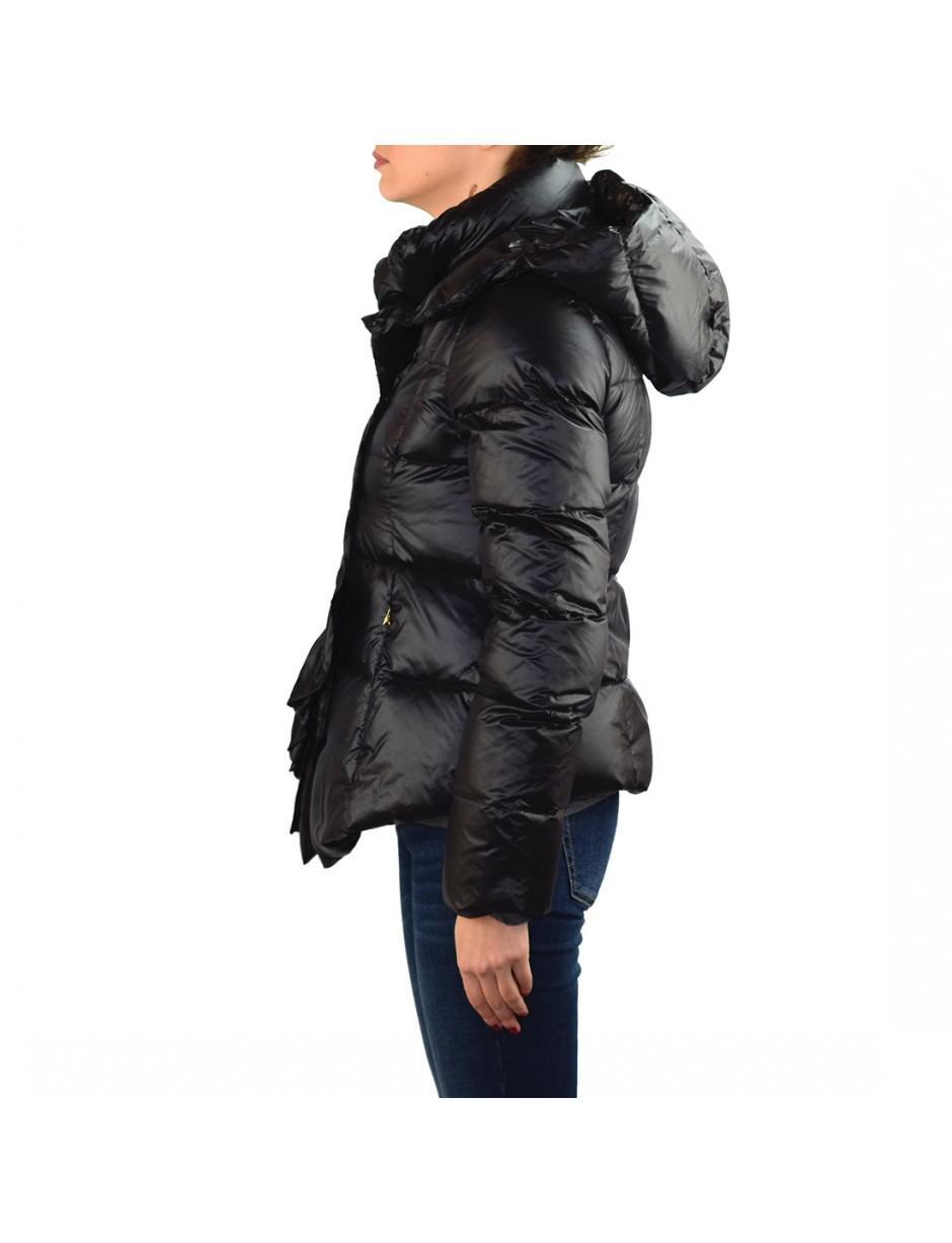 aaf35c596e Patrizia Pepe Down Jacket In Black in Black - Lyst