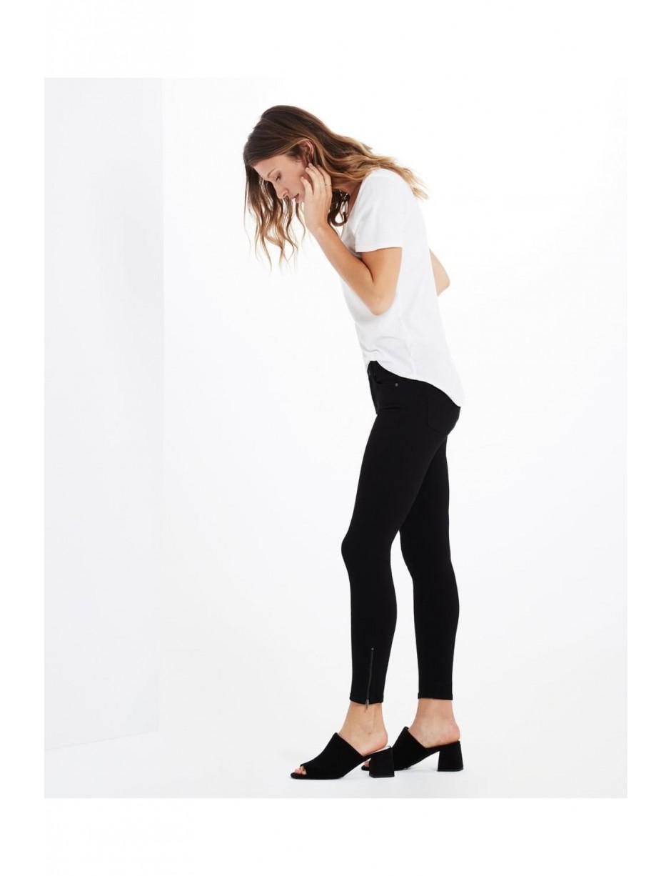 AG Jeans Denim The Zip-up Legging Ankle Spb1527 in Black
