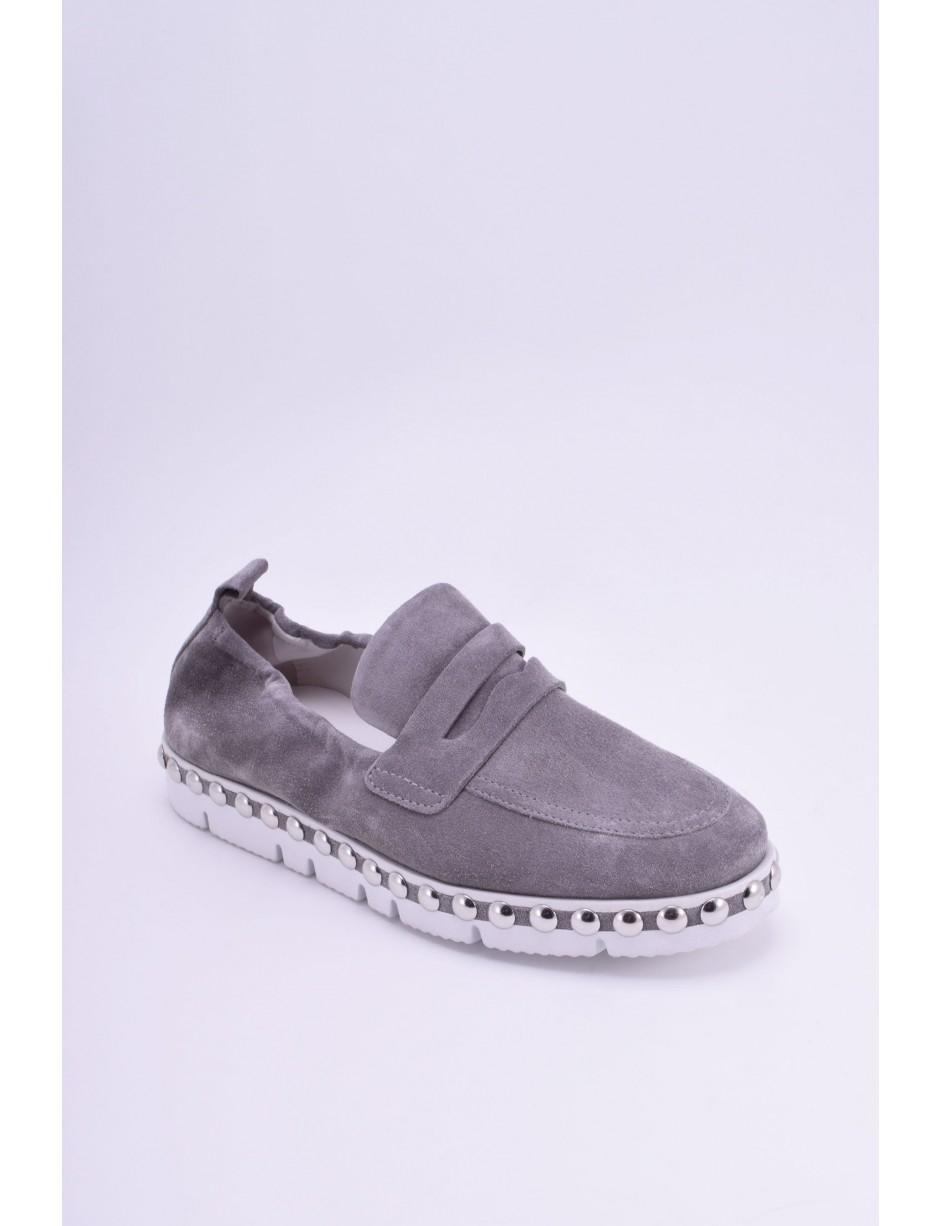 c2e8b7302e6 Lyst - Kennel   Schmenger Malu X Stone Studded Loafer in Gray