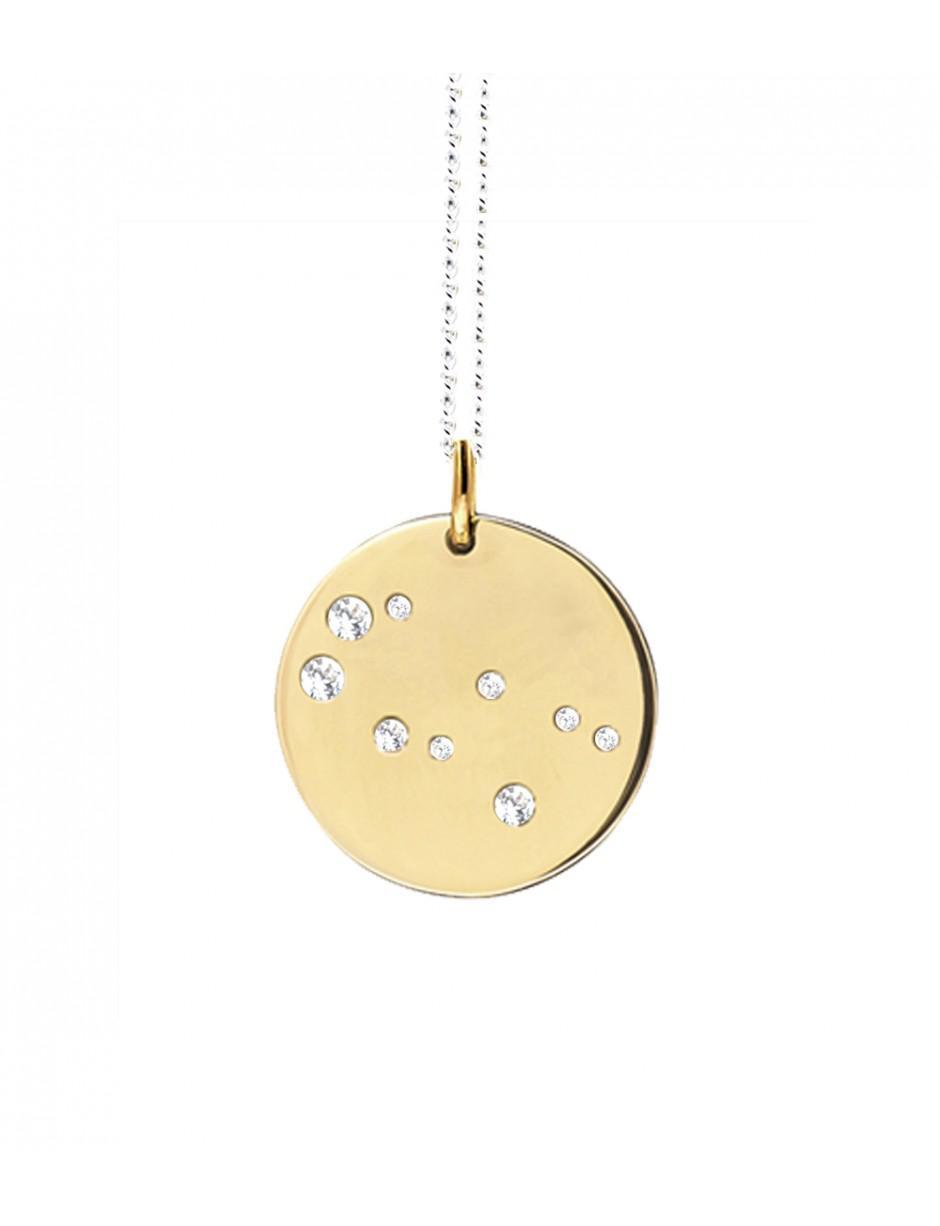 Catherine Zoraida Gemini Zodiac Pendant in Gold (Metallic)