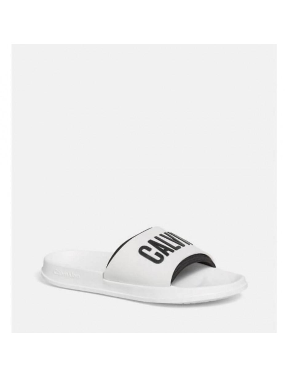 f5db7af4aa42 Calvin Klein Sliders White in White for Men - Lyst
