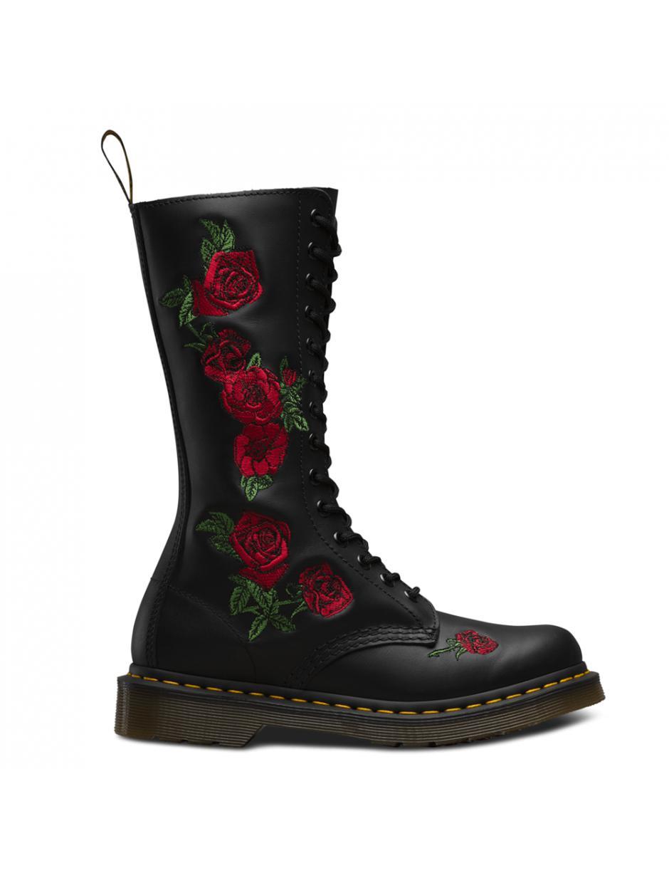 a0519f1e544e Lyst - Dr. Martens Ladies Vonda 14-eye Boots in Black