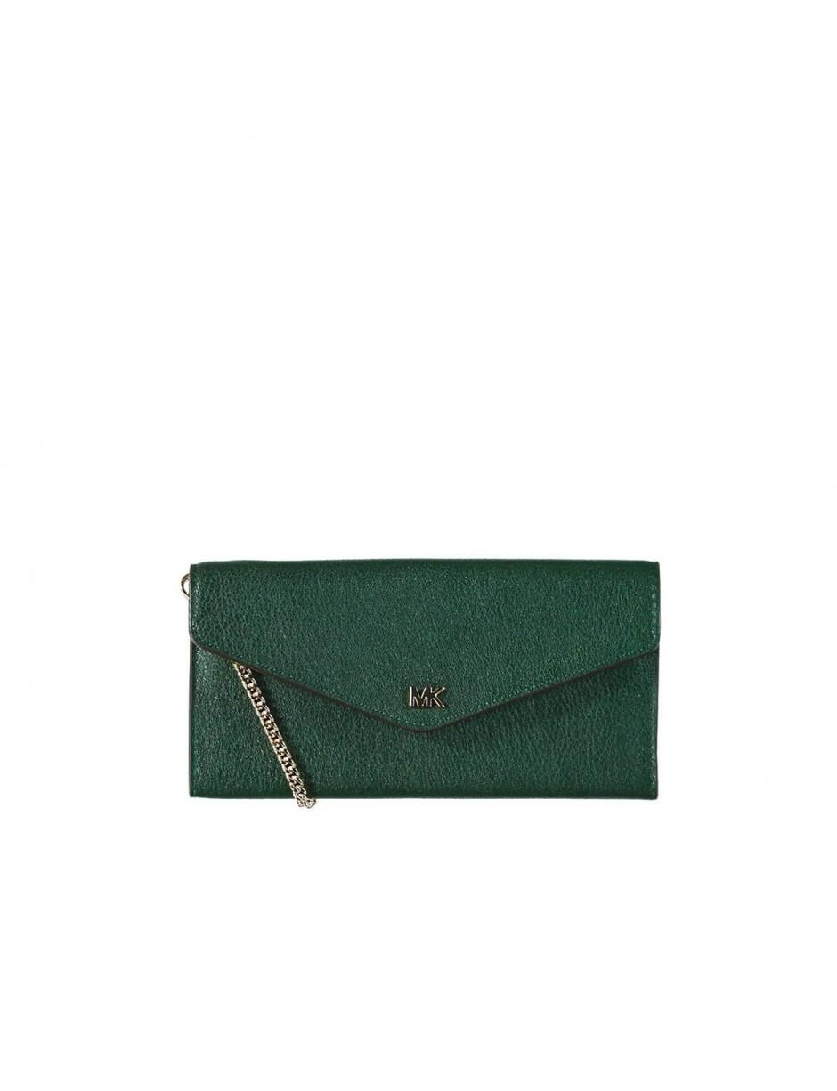 ec1e9de2272ca2 MICHAEL Michael Kors Michael Kors Cryll Large Chain Racing Green Wallet in  Green - Lyst