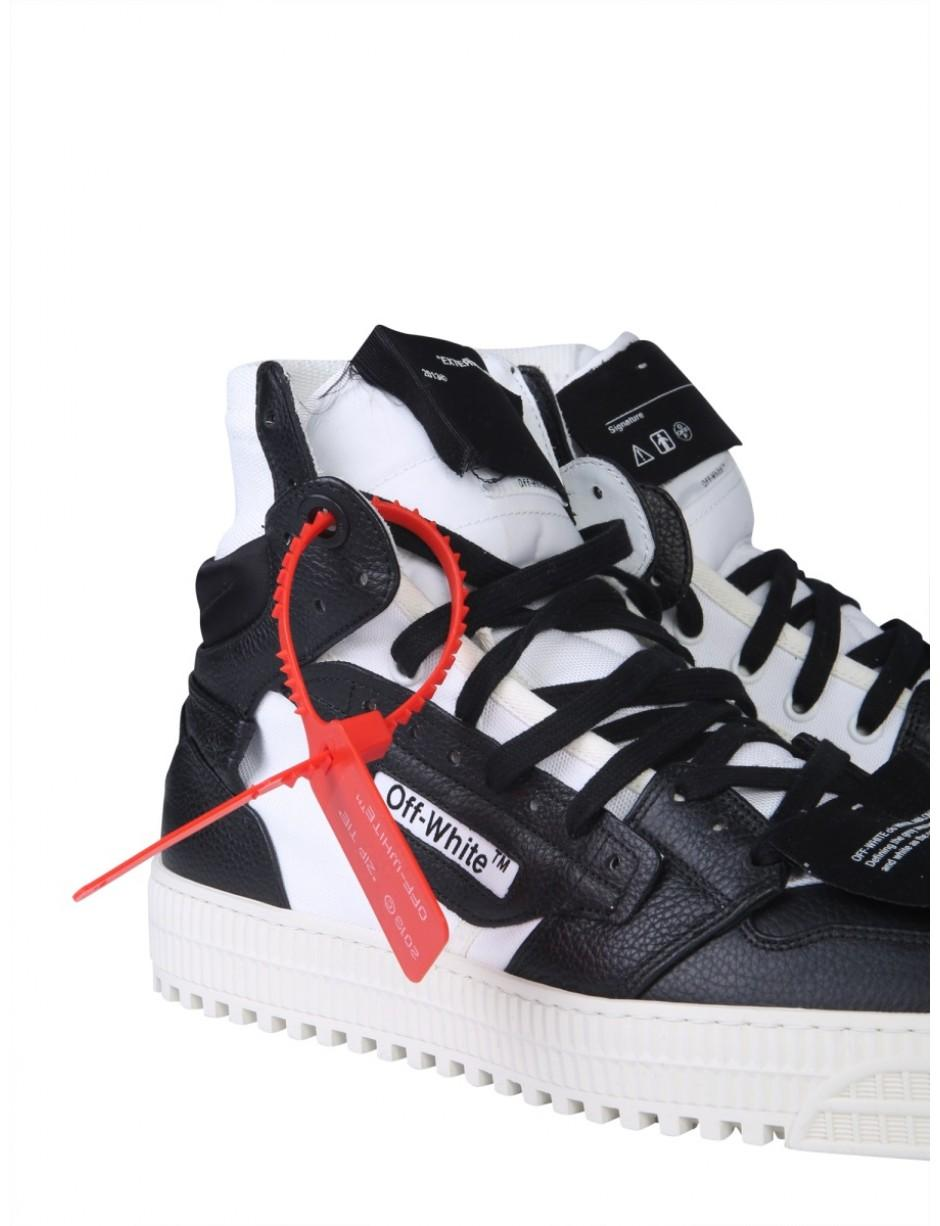 Off White C O Virgil Abloh Lace Alta 3 0 Sneakers In Black For Men Lyst