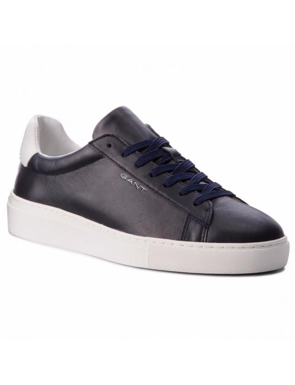 GANT Leather Denver Trainers in Blue