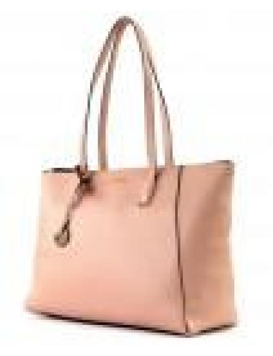 Coccinelle Leather Clementine Soft Tote Bag in Pink