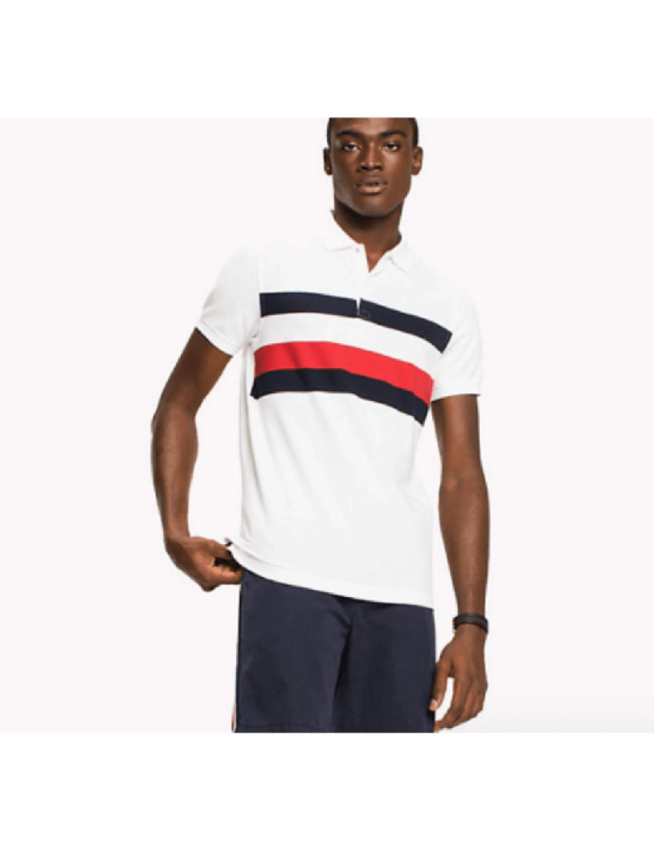d660c641e4bf1d Lyst - Tommy Hilfiger Chest Stripe Polo Shirt in White for Men