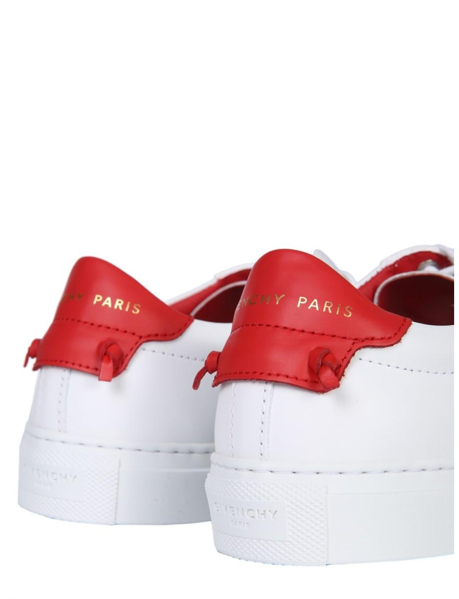 Givenchy Leather Lace-up Sneakers in White