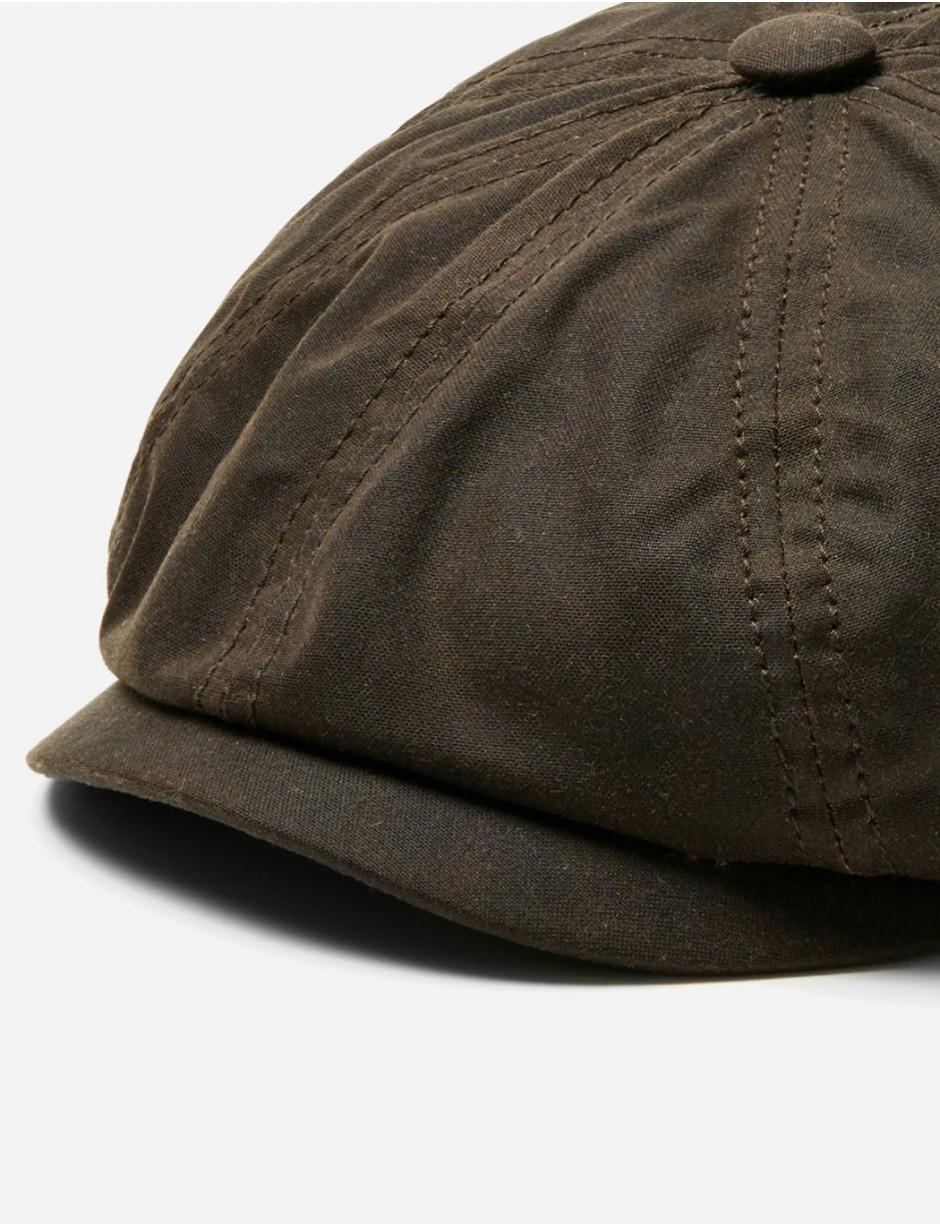 914d46aac Stetson Hatteras Newsboy Cap (waxed Cotton) in Brown for Men - Lyst