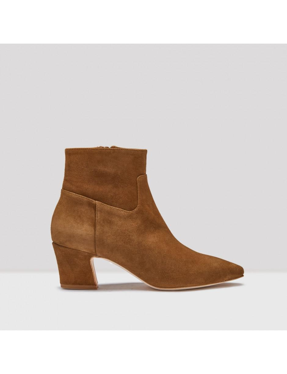 Miista Lorelle Chocolate Suede Boots in Brown