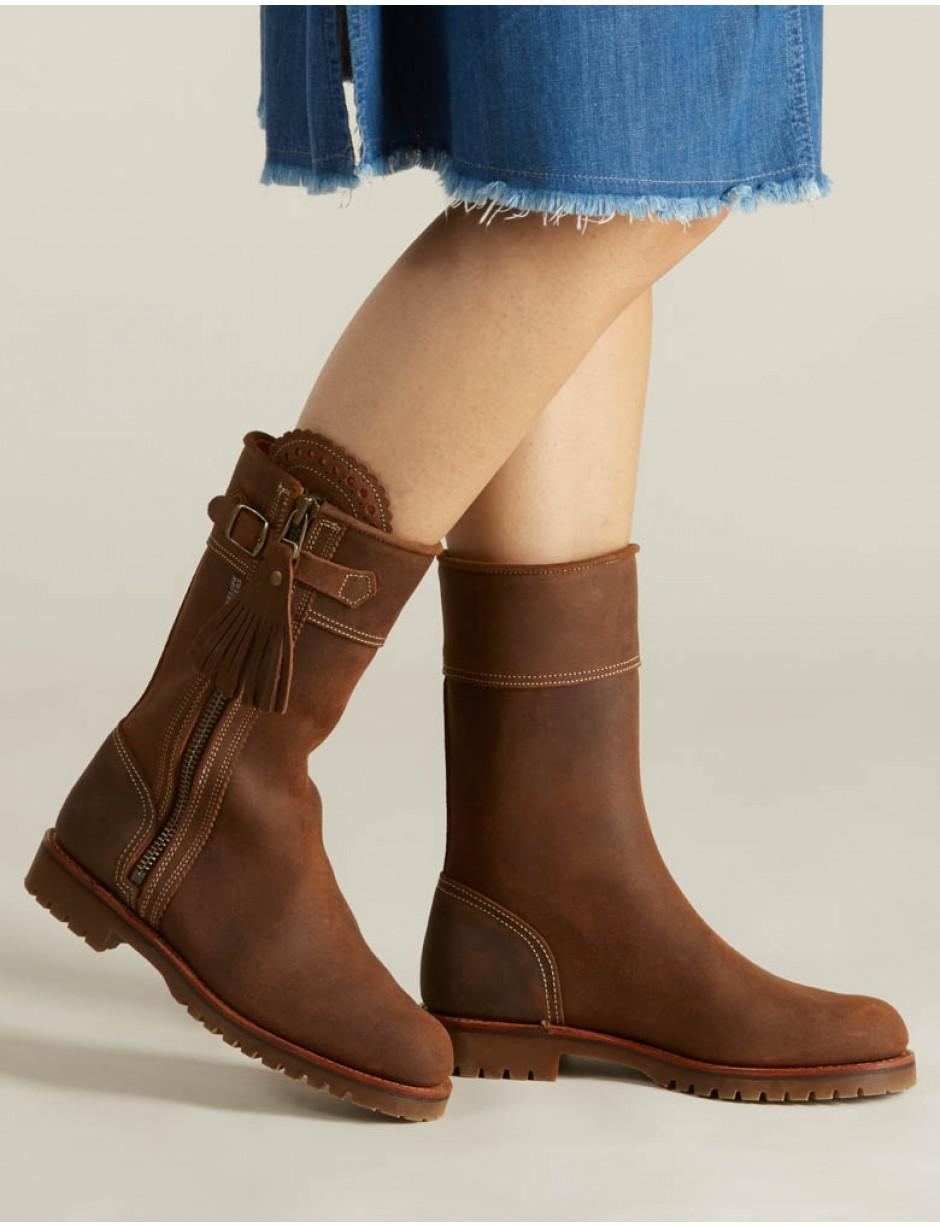 80f6831a1405 Lyst - Penelope Chilvers Women s Midcalf Tassel Boots in Brown