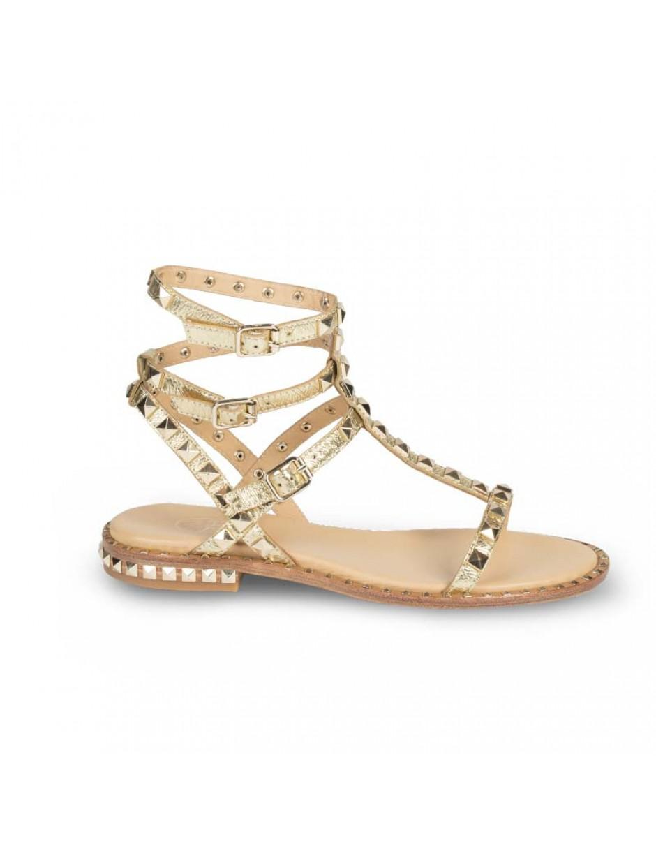 6c3c2ef1a96e Ash. Women s Metallic Poison Studded Sandals Rocher Gold Leather   Gold  Studs Sandals
