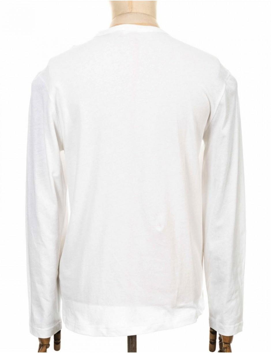 55f161d92264 Champion Reverse Weave L s Crewneck Tee in White for Men - Lyst
