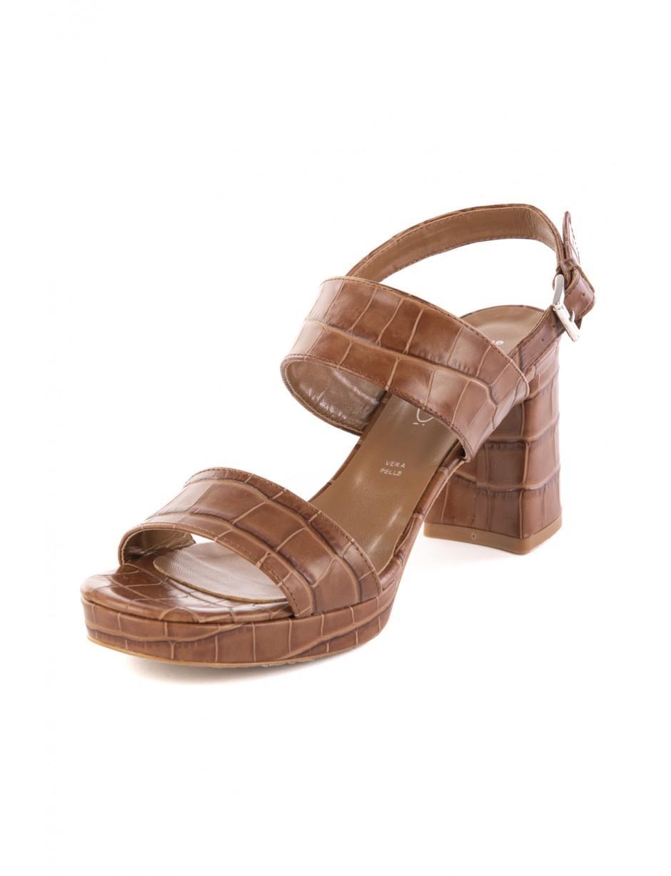outlet store 84956 ef8bd Bianca Di Manzetti Scarpe Sandalo Cuoio in Brown - Lyst