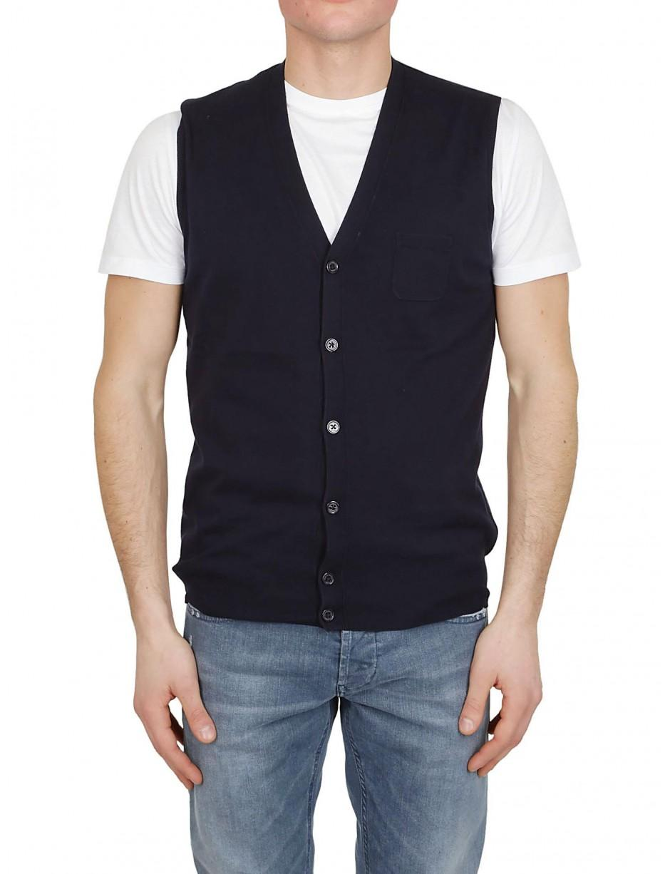 5632987155a78 Lyst - Paolo Pecora Gilet In Blue in Blue for Men