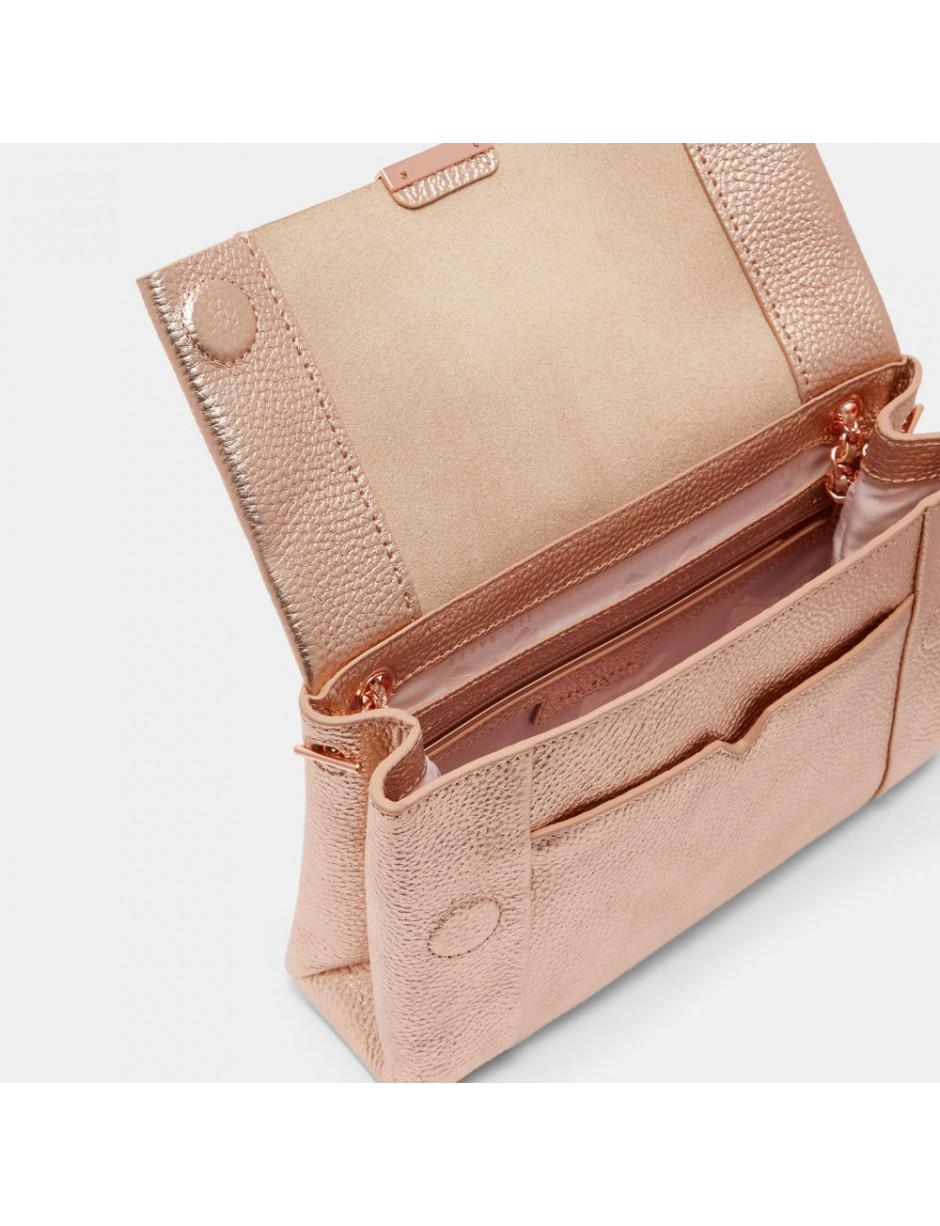 Ted Baker Leather Parson Cross Body Bag in Pink