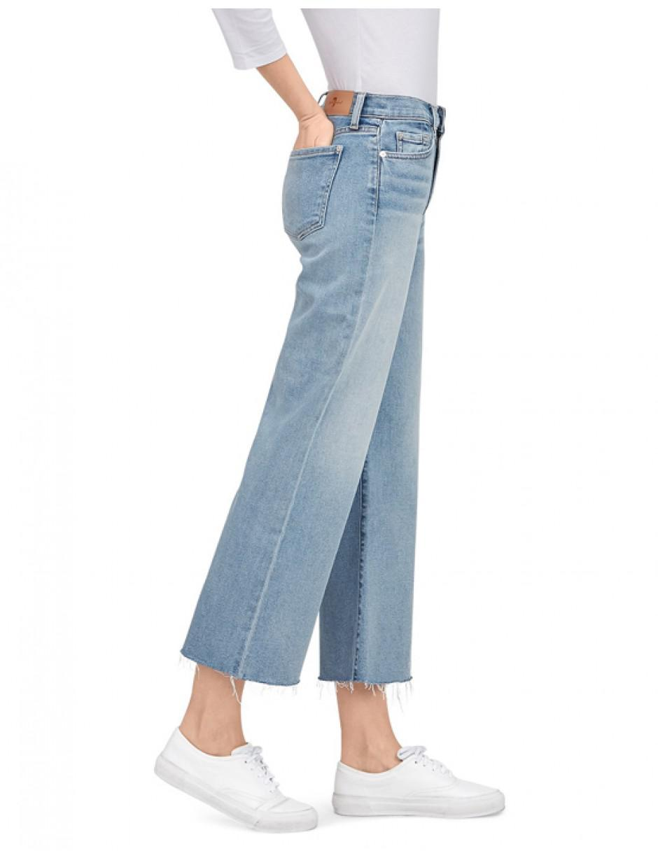 e7005226219 7 For All Mankind Cropped Alexa in Blue - Lyst