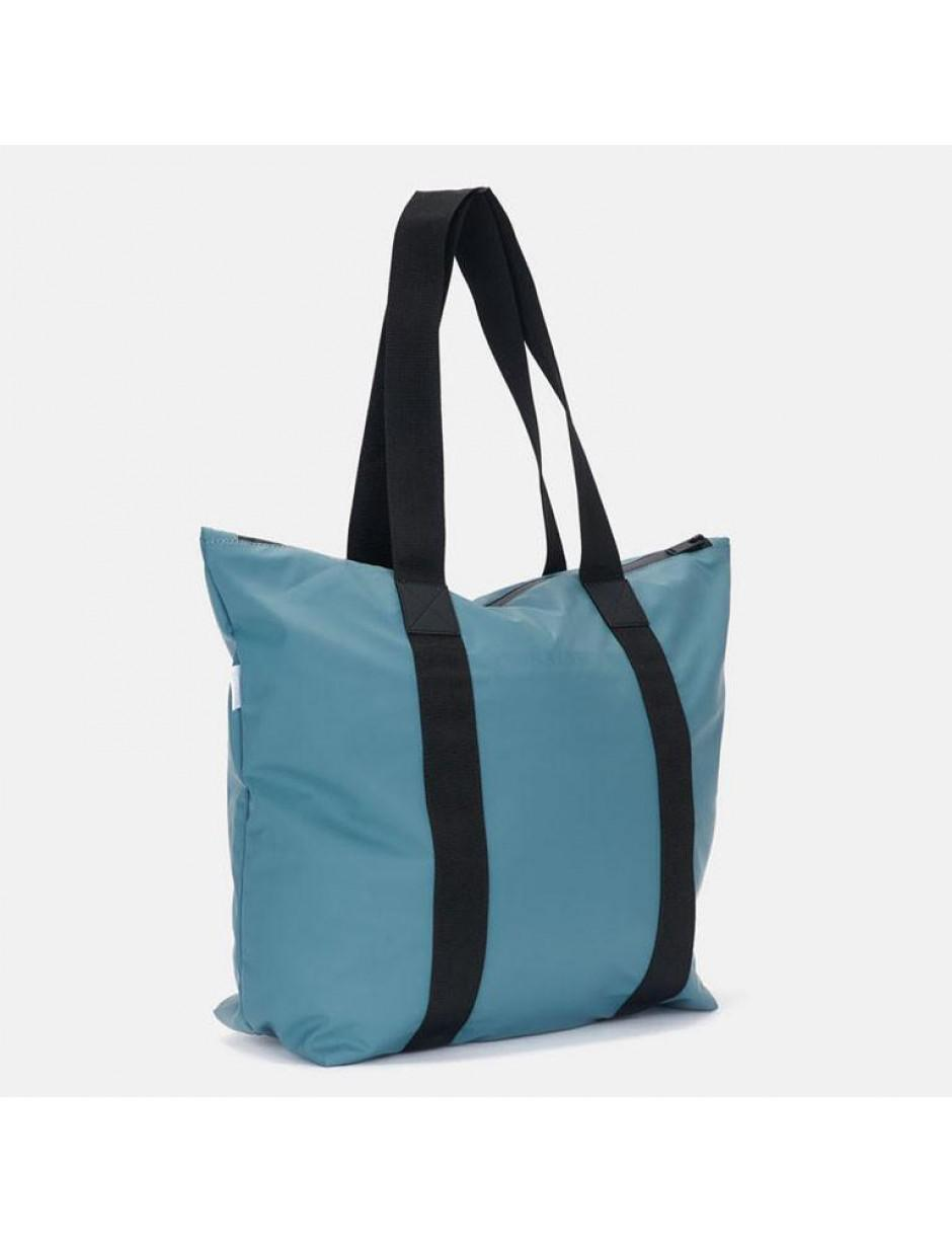 Rains Synthetic Tote Rush Bag in Grey (Grey)