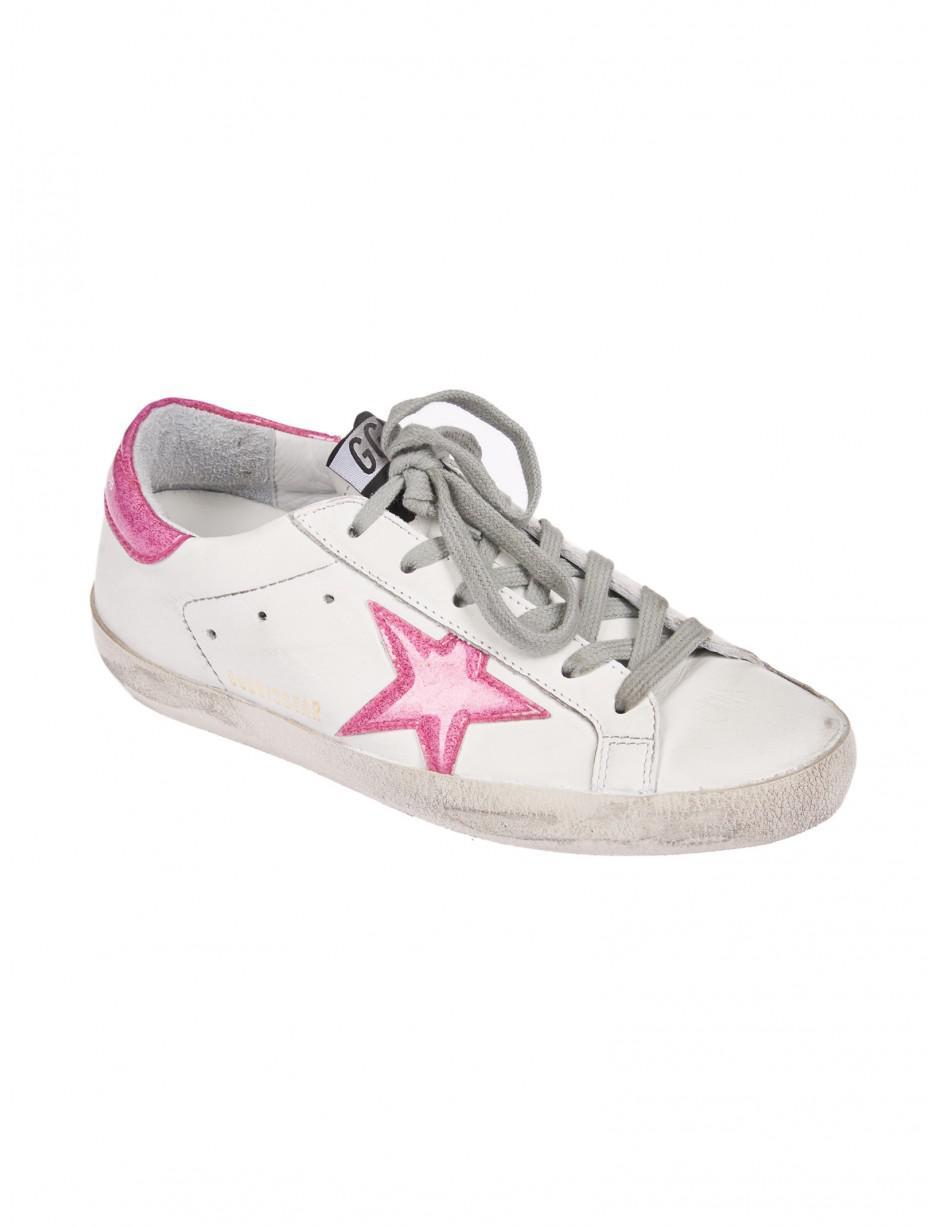 Golden Goose Deluxe Brand Superstar Sneakers In White/magenta