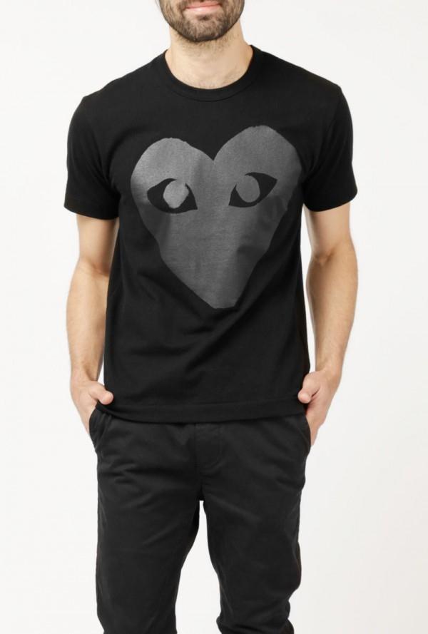 Play Comme Des Gar Ons Black Emblem Ss T Shirt In Black