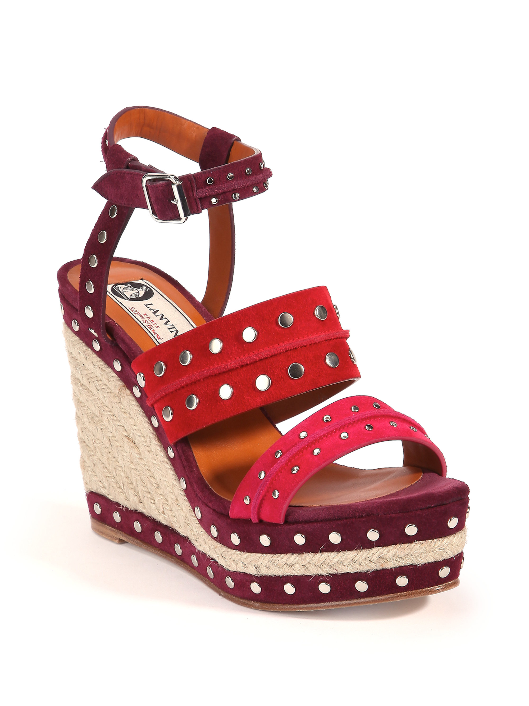 to wear - Red heels wedge with spikes video