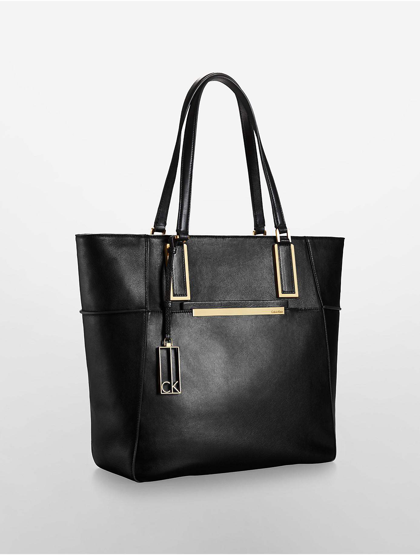 calvin klein white label kenner leather large shopper tote. Black Bedroom Furniture Sets. Home Design Ideas