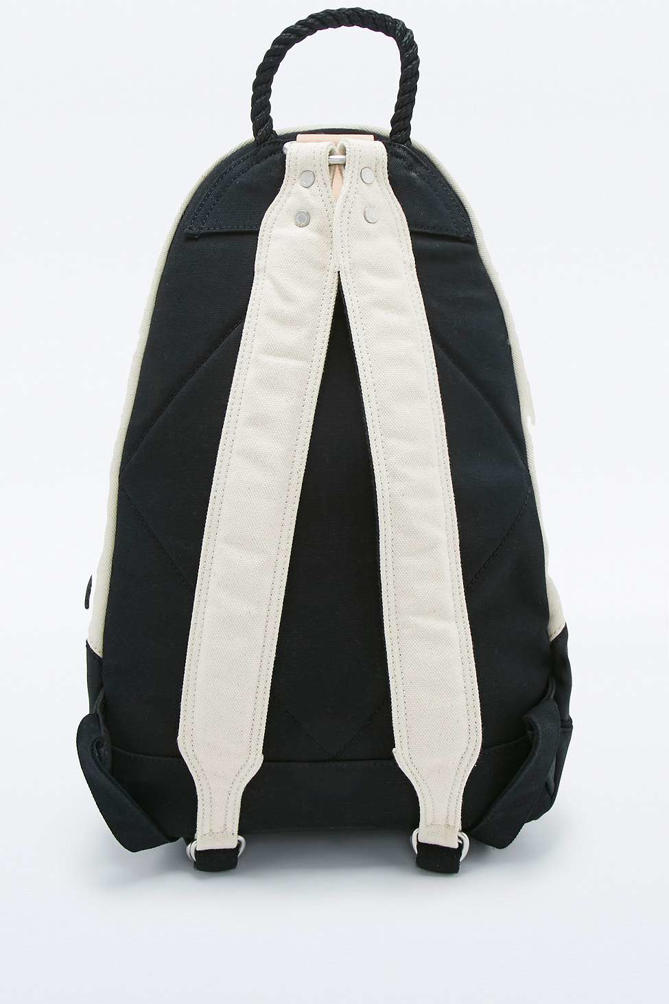 Stighlorgan Oisin Sand And Black Cotton Canvas Backpack in Natural for Men