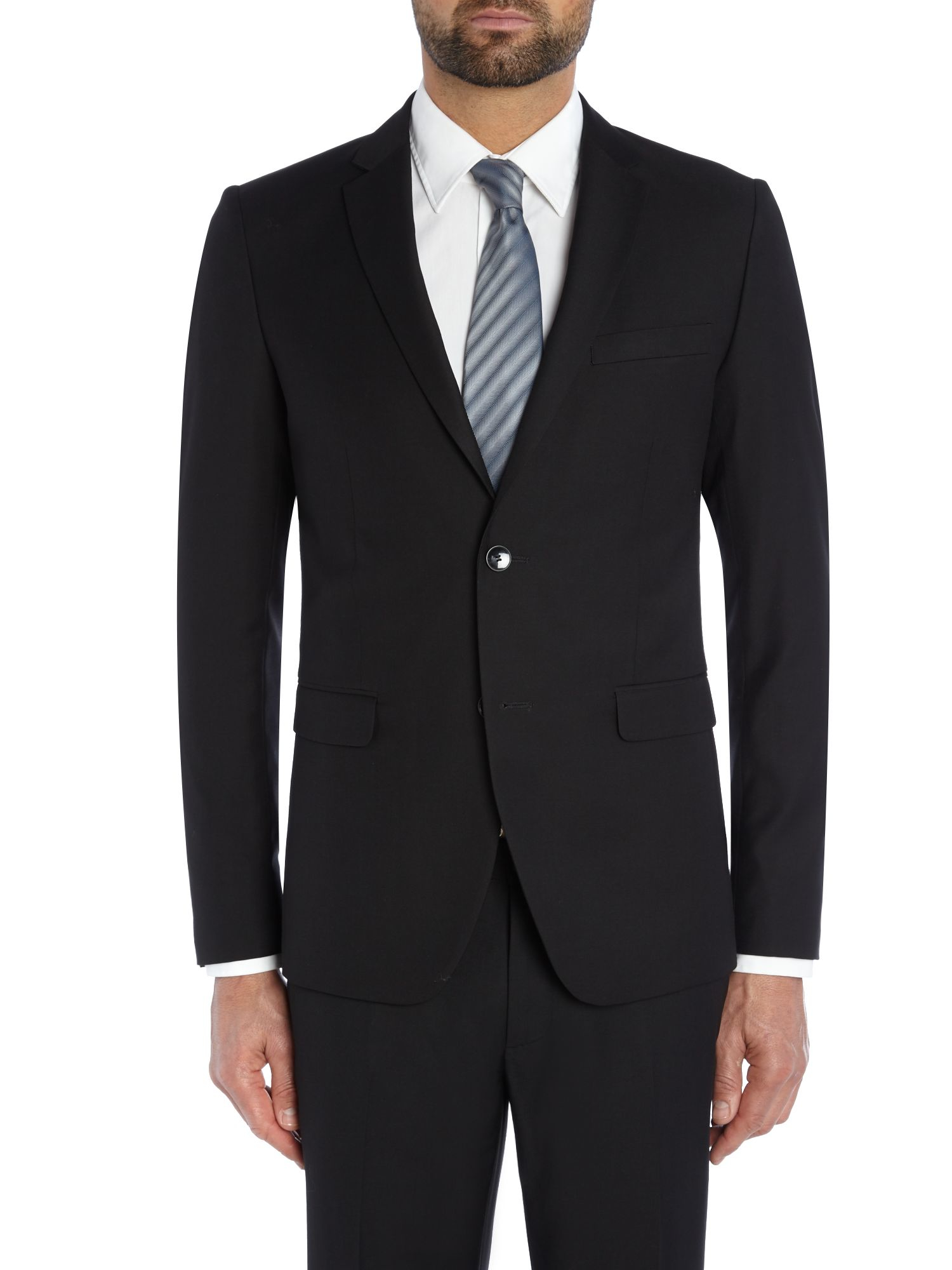 Sisley Men Formal Button Blazer In Black For Men (Navy) | Lyst