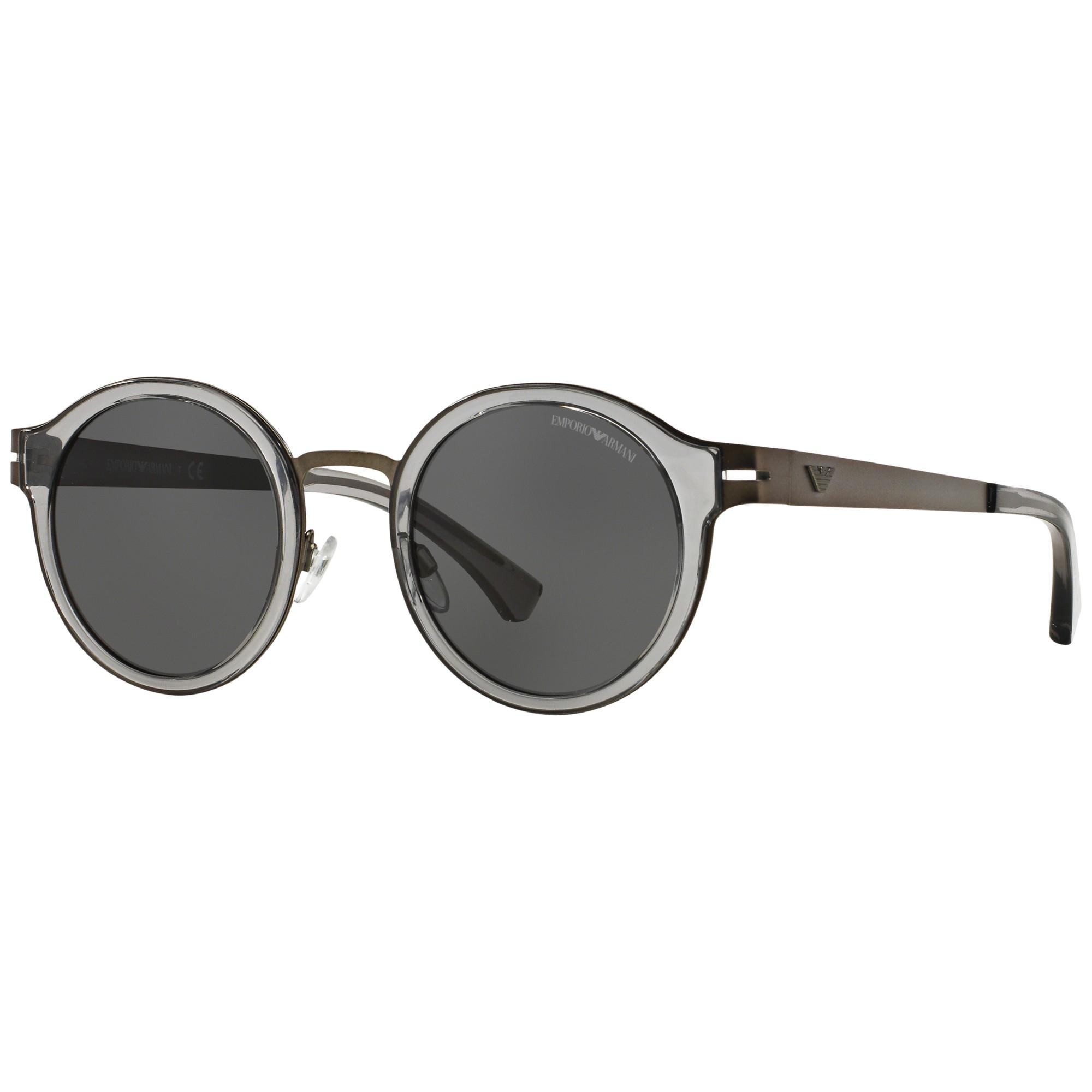a391ac5ee3d5 Emporio Armani Ea2029 Round Sunglasses in Black - Lyst