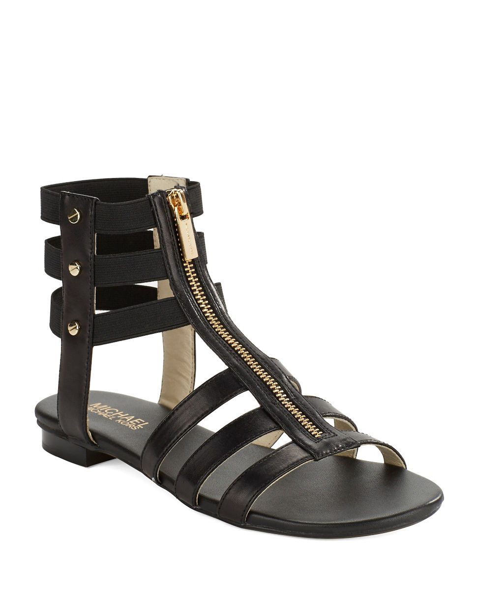 d63e96bd5bbd Michael Michael Kors Codie Leather Gladiator Sandals in Black - Lyst