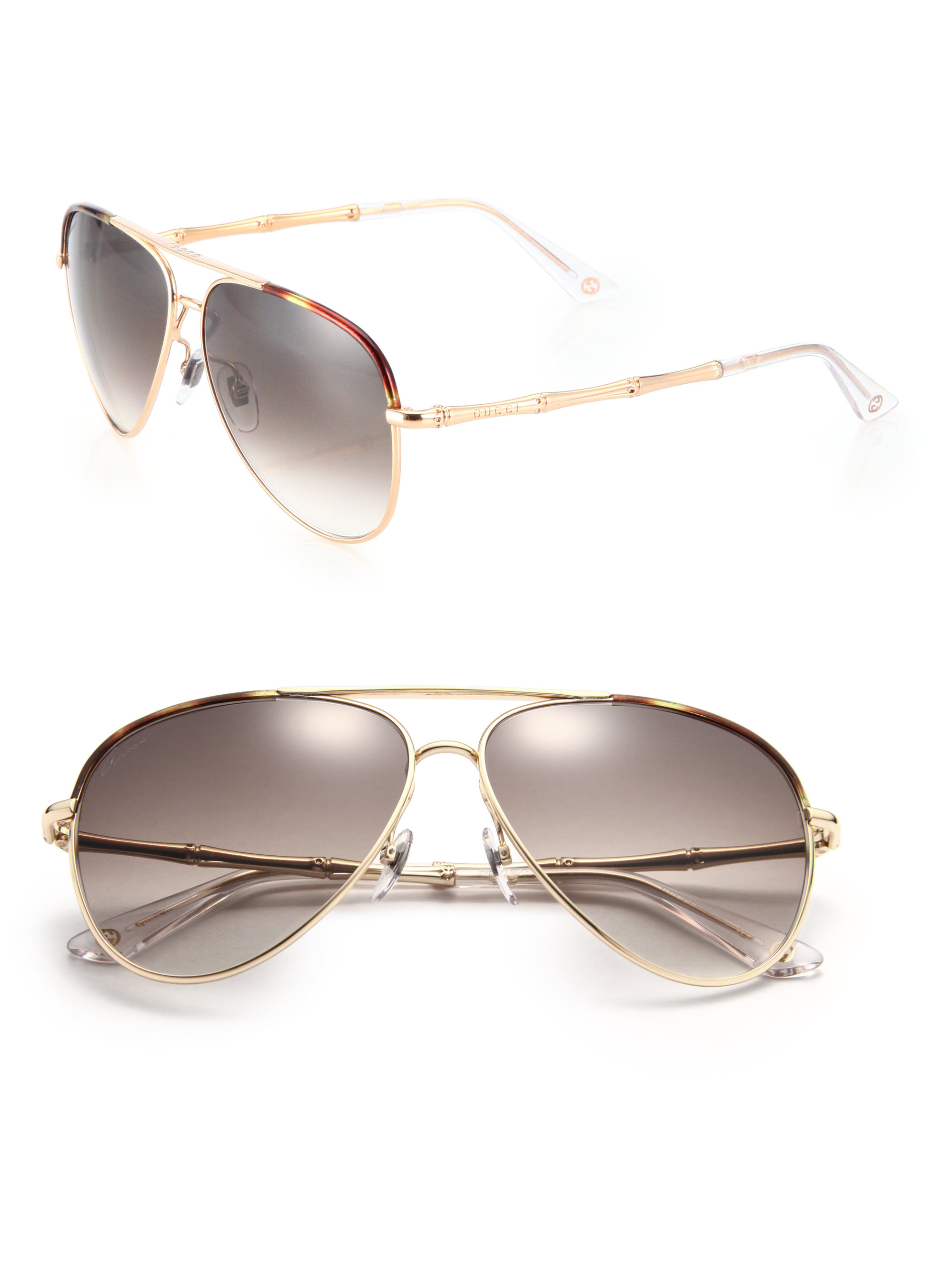 d96462dbd11 Source · Lyst Gucci Bamboo 59mm Aviator Sunglasses in Brown for Men