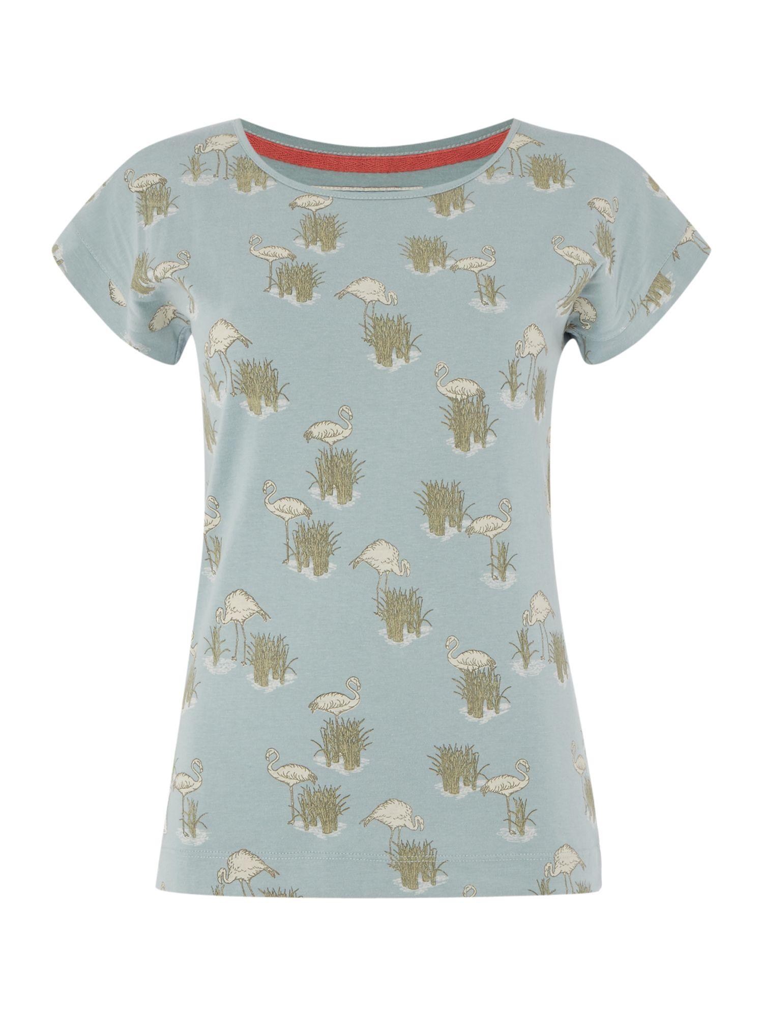 Brakeburn Flamingo Printed T Shirt In Blue Lyst