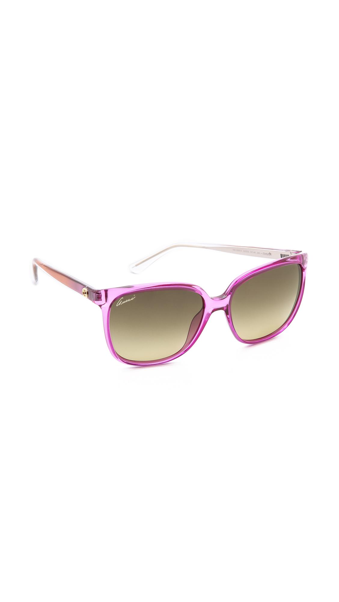 Lyst Gucci Square Gradient Sunglasses Violet Brown