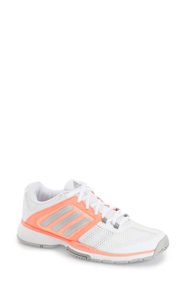 adidas originals barricade club w tennis shoe in orange