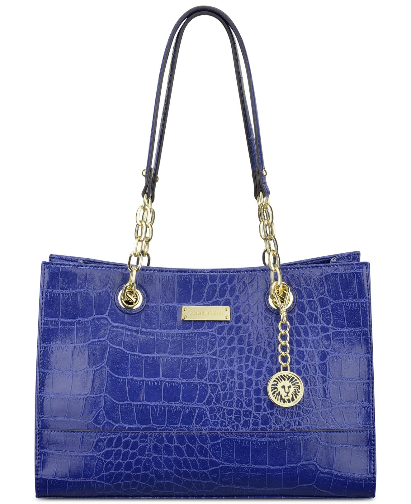 anne klein coast is clear small chain tote in blue lyst. Black Bedroom Furniture Sets. Home Design Ideas