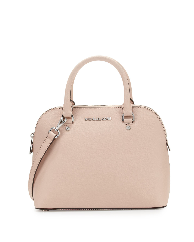 Michael Kors Cindy Laukku : Michael kors cindy medium dome leather satchel bag