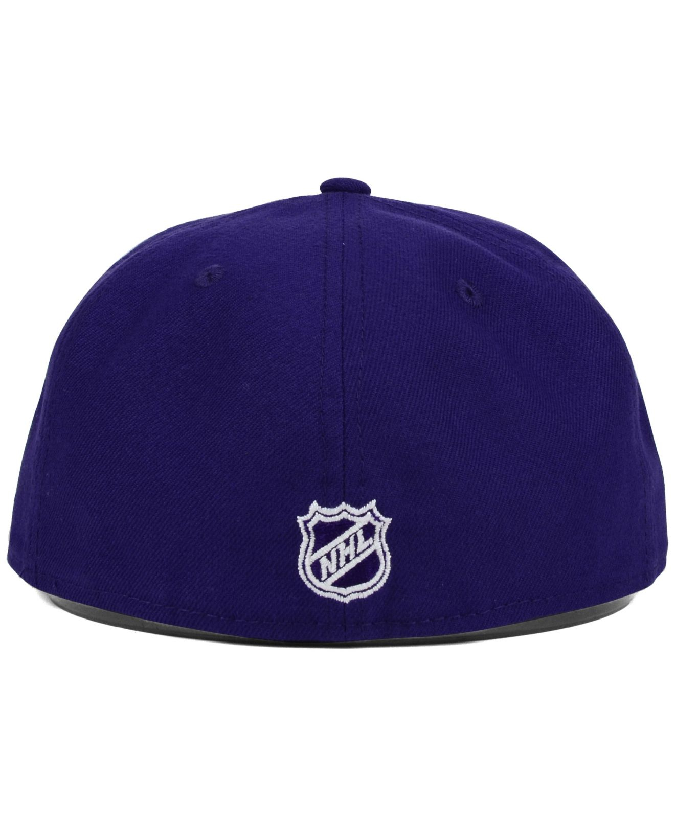 ... inexpensive lyst ktz los angeles kings c dub 59fifty cap in purple for  men 17723 fe6d9 f81bbc43074a