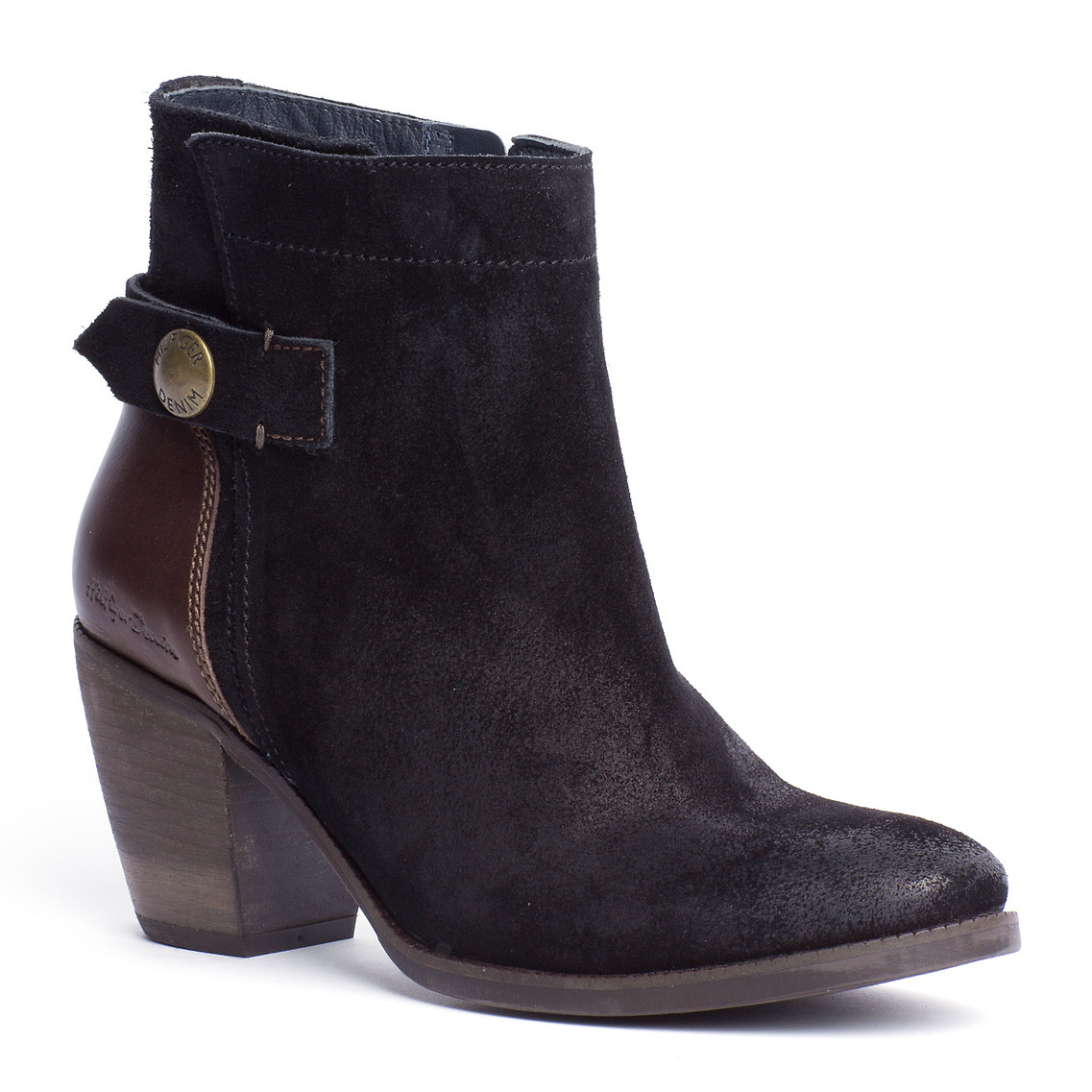 tommy hilfiger ivy ankle boots in black lyst. Black Bedroom Furniture Sets. Home Design Ideas