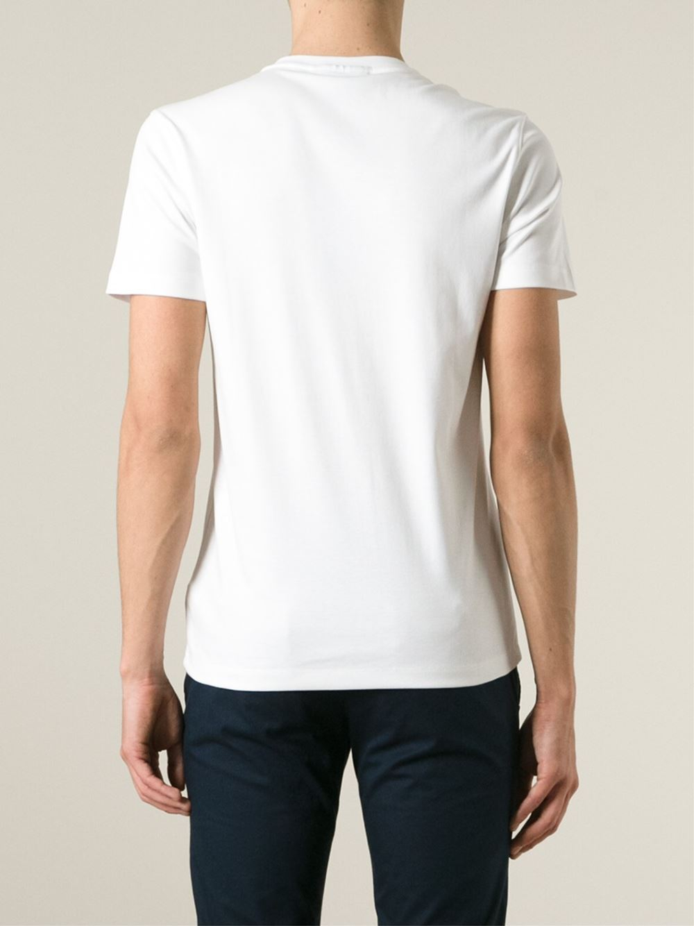 michael kors crew neck t shirt in white for men lyst. Black Bedroom Furniture Sets. Home Design Ideas
