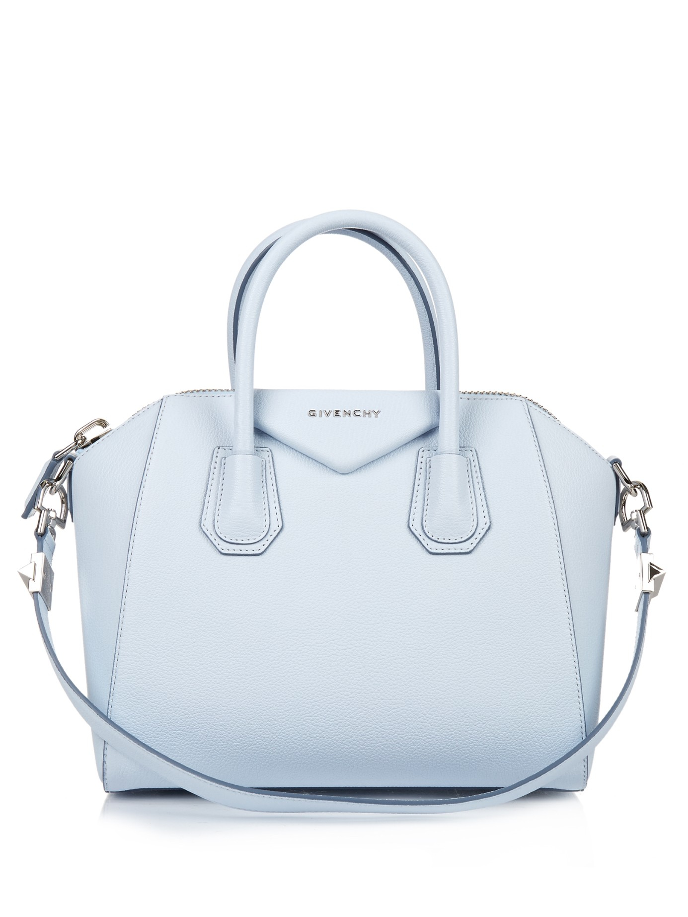 ae5224889e8a Givenchy Antigona Small Leather Tote in Blue - Lyst