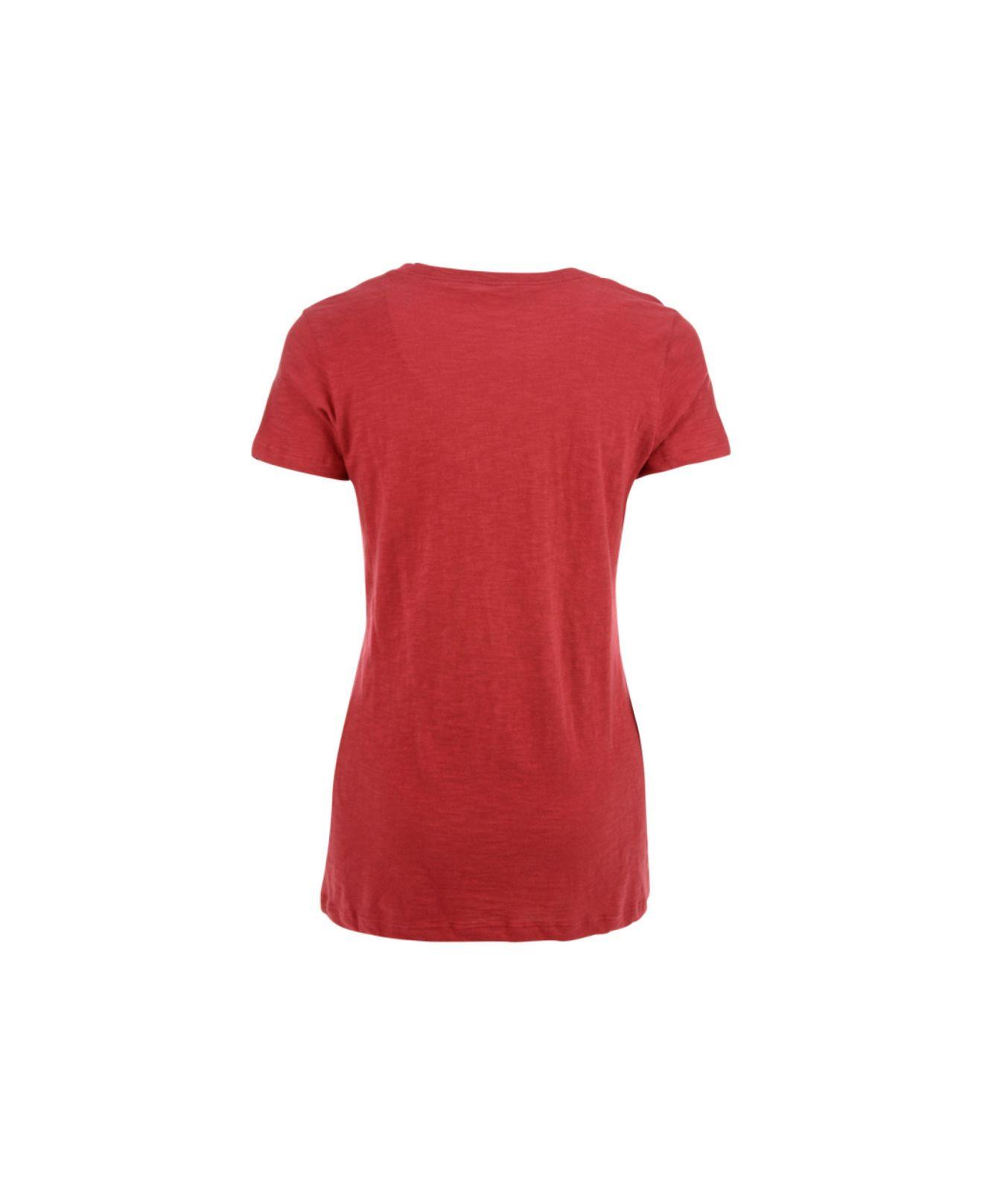 43730932 47 Brand Red Women's Short-sleeve St. Louis Cardinals V-neck T-shirt
