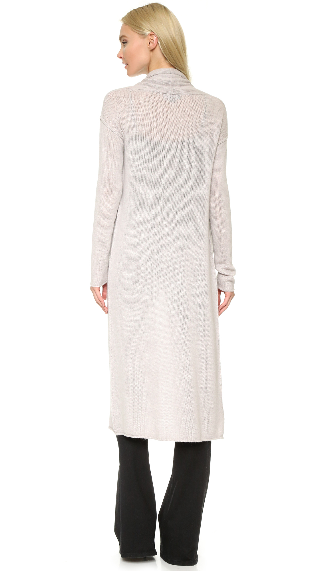 Theperfext Long Cashmere Sweater in Natural | Lyst