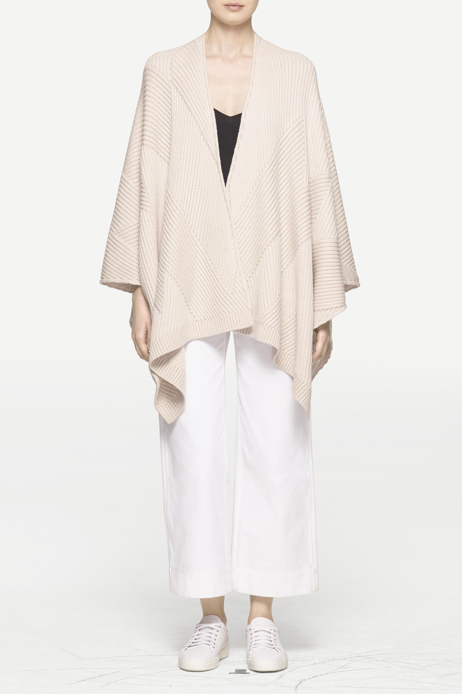 Lyst Rag Bone Blithe Poncho In White Top Multi Stripes Gallery