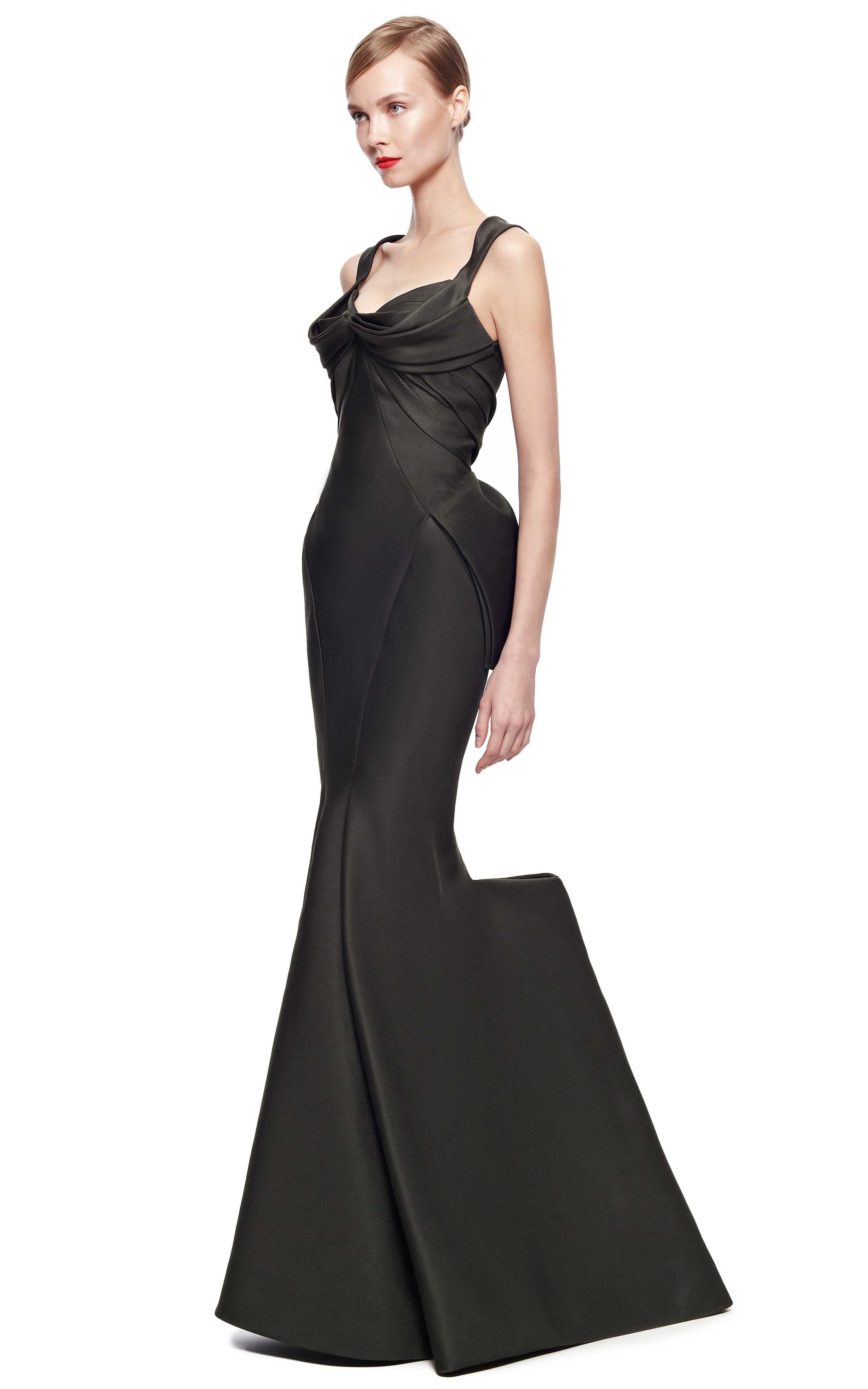 0a9fcfea09c Zac Posen Mikado Duchess Gown in Black - Lyst