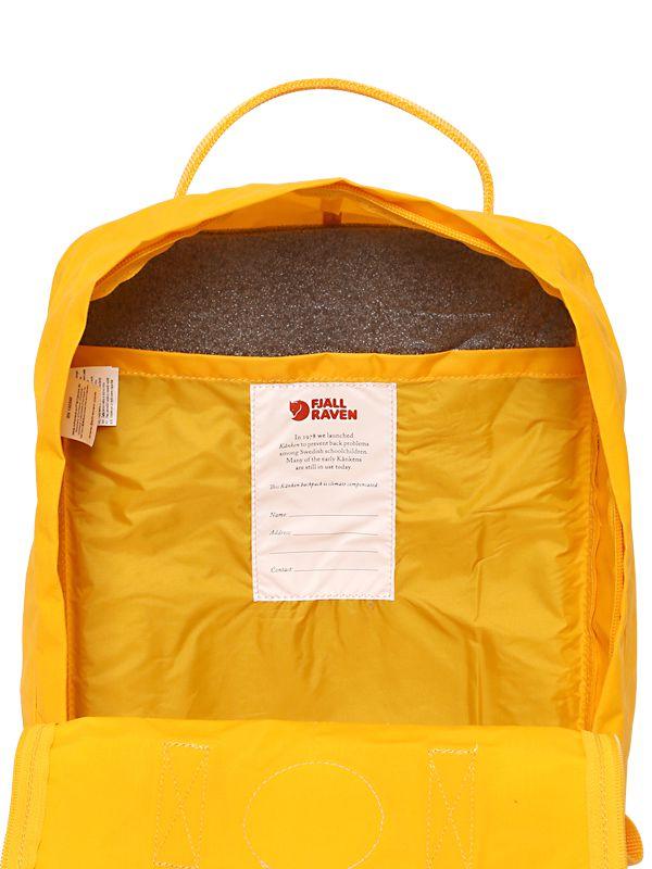 Fjallraven 16l Kanken Nylon Backpack in Yellow