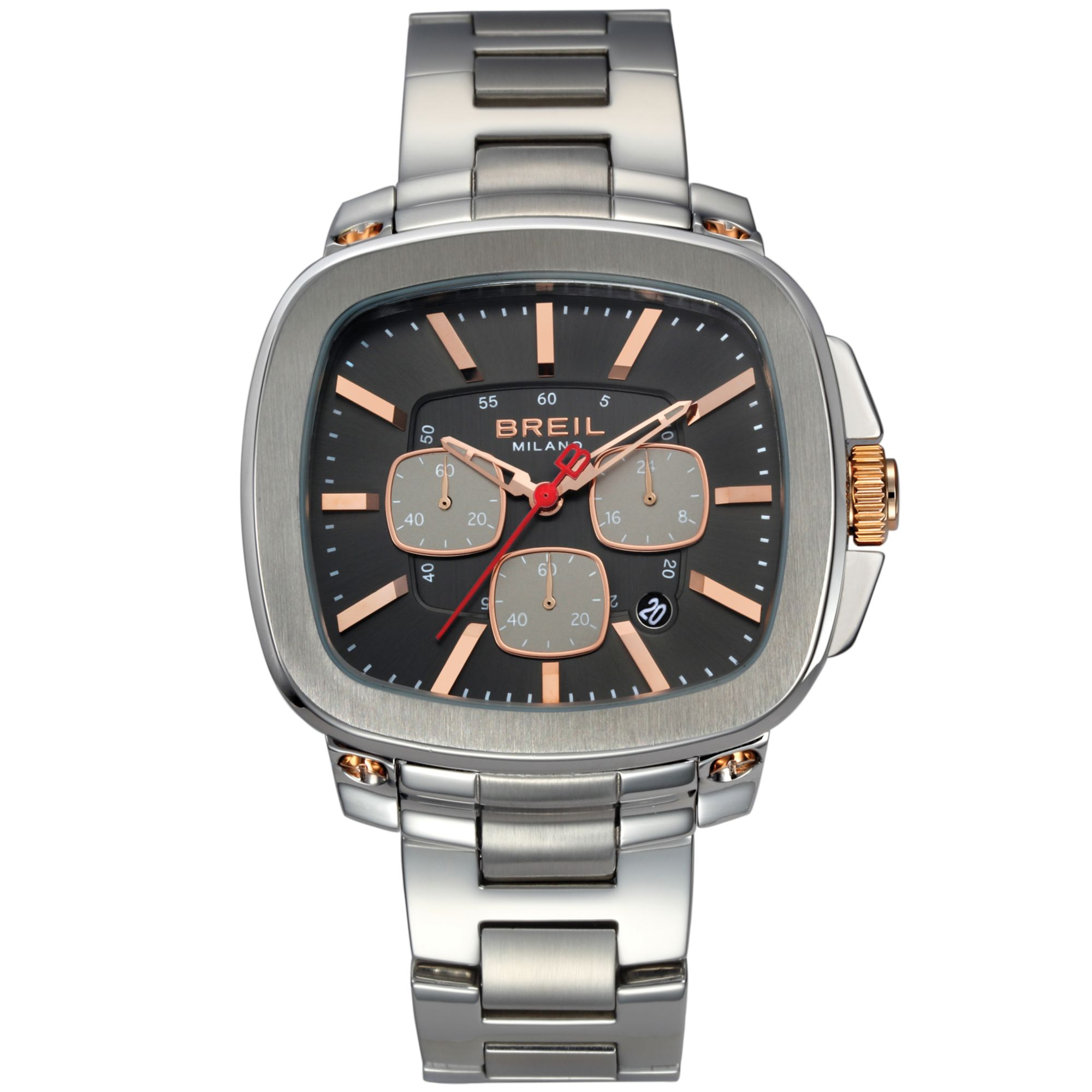 breil s chronograph stainless steel bracelet